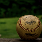 Photo of a baseball on the field